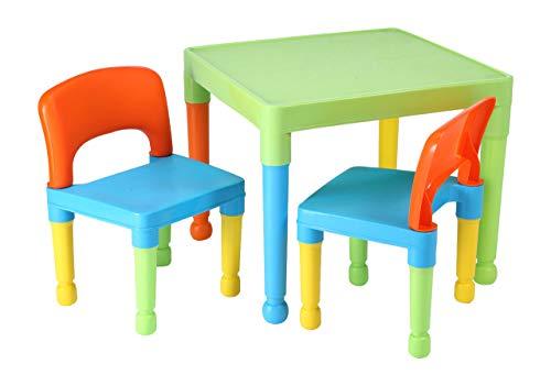 Liberty House Toys - Tavolo da Gioco per Bambini con 2 sedie, in plastica