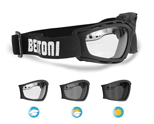 67b95234fd Gafas Fotocromaticas para Moto y Deportes Extremos - Lentes Antivaho by  Bertoni Italy - F120A negro