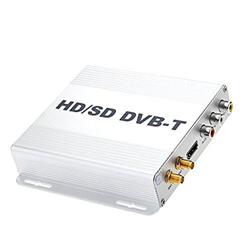 SODIAL DVB-T HD SD Multi-Channel Mobile Car Box TV digitale Mini TV Sintonizzatore analogico Ad alta...