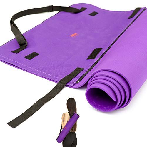 Tappetino Yoga Palestra Fitness Antiscivolo Professionale Ecologico con Borsa da Viaggio Pilates...
