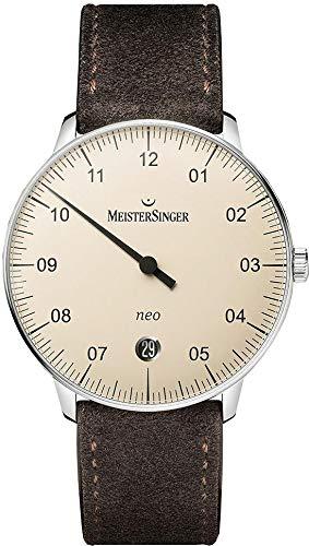 MeisterSinger Herrenuhr Einzeigeruhr mit Zusatzfunktion Automatik Neo NE903N