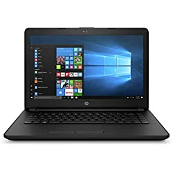 HP 14q-BU007TU 2017 14-inch Lightweight, Laptop (Celeron N3060/4GB/500GB/Windows 10/Integrated Graphics), Jet Black