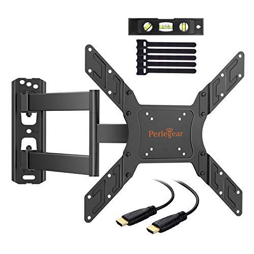 Soporte TV de Pared Articulado Inclinable y Giratorio para Pantallas de 23-55 pulgadas, hasta 45 kg, Max VESA 400x400mm, Cable HDMI Y Nivel de Burbuja Incluidos