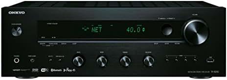 Onkyo TX-8250(B) Stereo Receiver (Hifi Verstärker 135 W/Kanal, Multiroom, WLAN, Bluetooth, Streaming, Musik Apps (Spotify, Tidal, Deezer), DAB+, Front USB/Audio in), Schwarz