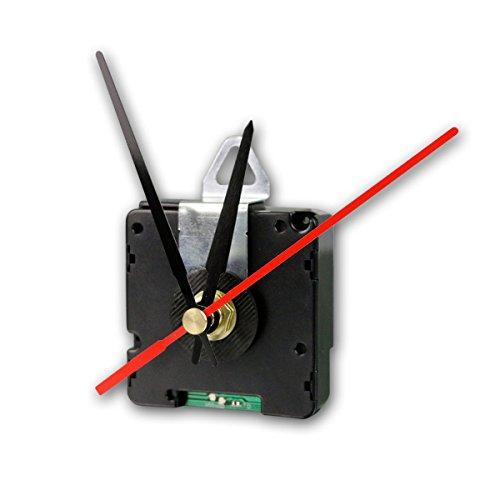 ChiliTec - Orologio radiocontrollato DCF con 3 lancette, Cassa in plastica, Colore: Nero