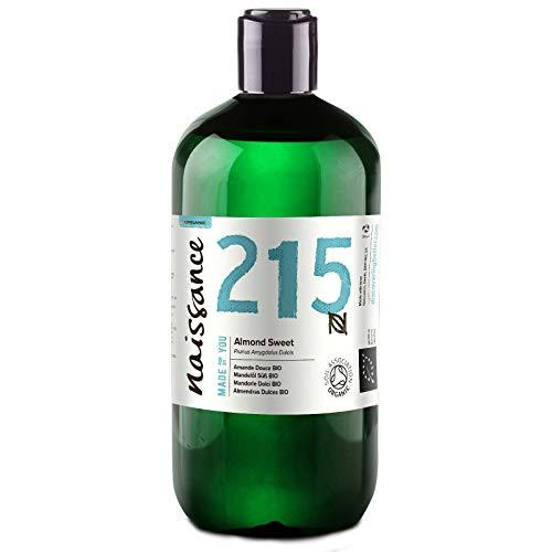 Naissance Mandorle Dolci Certificato Biologico Puro 500ml – Vegan, senza OGM – Ideale per la cura della Pelle e dei Capelli, l'Aromaterapia e come olio da Massaggio di base