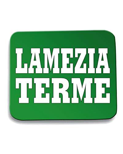 T-Shirtshock Tappetino Mouse Pad Verde WC0977 LAMEZIA TERME ITALIA CITTA STEMMA LOGO