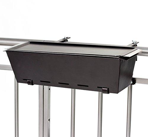 My Balconia BBQ Barbecue da Balcone Bruce, Nero, 19x58x38 cm