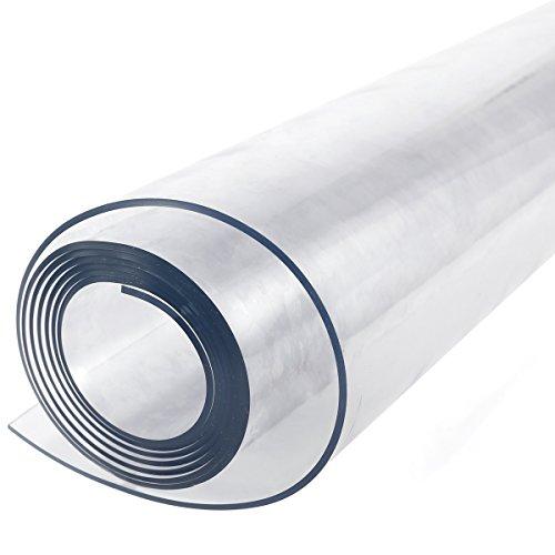 SurePromise Copertura protettiva trasparente per tavolo,Tovaglia Plastica Chiaro PVC da 2mm,160 cm x...