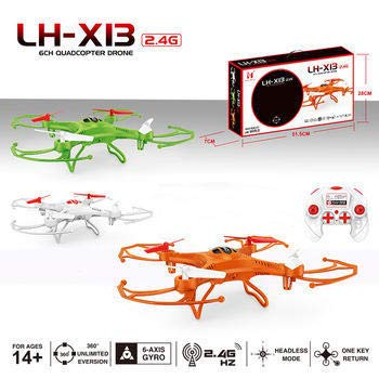 Hobnot Plastic 6 Axis GYRO 2.4GHz LH-X13 Quadcopter Drone (White, Colour May Vary as Per Availability)