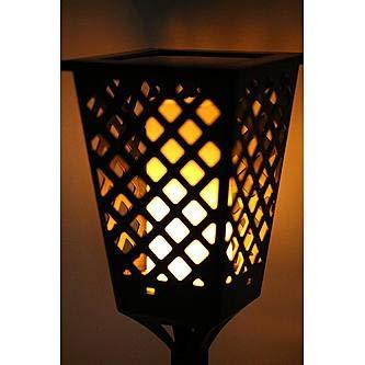 MOHAK Waterproof Dancing Tiki Light Path Dancing Flame Courtyard Lamp Tiki Light Torch Outdoor Solar LED Road Garden Light