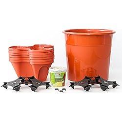 Ecogarden Irisana 72.EG11.B - Colonnina per la coltivazione verticale di piante, colore: bianco