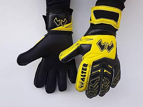 WALTER Guanti da Portiere Modello Six (7, Black/Yellow)
