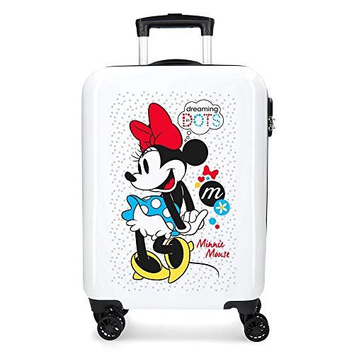 Disney Enjoy The Day Valigia per bambini 55 centimeters 34 Bianco (Blanco)