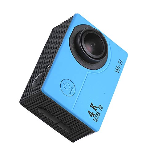 Action Cam 2' LCD 4K V3 30fps Fotocamera 16MP WiFi Action Sports Fotocamera con Batteria e Kit Accessori per Ciclismo Nuoto e Altri Sport E (Colore : Blue)