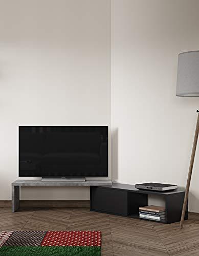 TemaHome Move Mobile Porta TV, Legno truciolato, 110/203 x35,4 x32 cm (LxBxH)