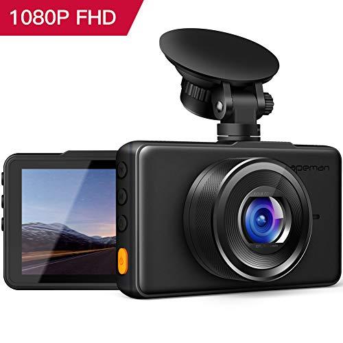 APEMAN Dash Cam Telecamera per Auto 1080P FHD 3 Inch schermo 170 ° Grandangolare, G-Sensor, WDR, Parcheggio Monitor, Registrazione in Loop, Rilevatore di Movimento