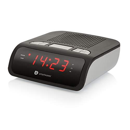 Smartwares CL-1459 Radiosveglia con Radio FM PLL, Nero