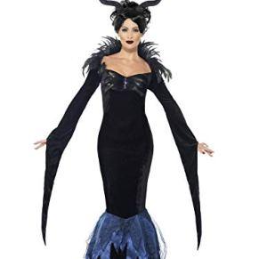 Smiffys - Disfraz de señora Cuervo, Color Negro (43724S)