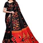 IndoPrimo Women's Silk Saree with Blouse Piece (Free Size, Multi Colour)