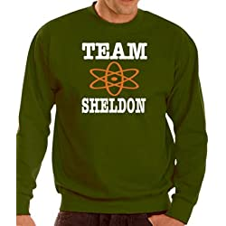 The Big Bang Theory - Team Sheldon - Sudadera - XXXL. Varios colores., caqui, mediano