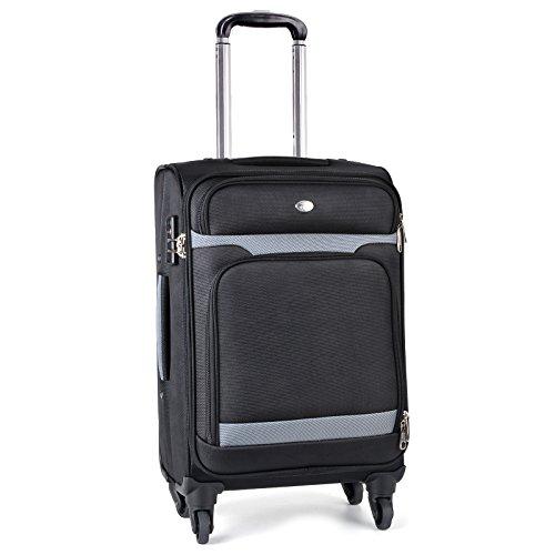 Trolley Bagaglio a Mano, Coofit Valigia Trolley 4 Ruote per Viaggio di Lavoro con TSA Serrature...