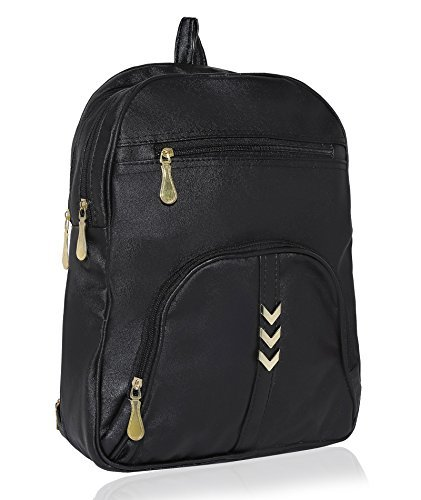 Kleio Women's Leatherette Black Casual Backpack