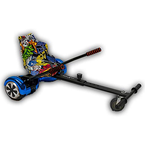 GadgetFinder Nero Hoverkart Go Kart Racer Regolabile per Segway Scooter 16,5cm 20,3cm 25,4cm