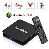 Android TV BOX 9,0 [Ultima Versione 2019] 4 GB RAM 64 GB ROM, TV Android Box ,Leelbox Q4 PLUS Smart TV Box RK3328 Quad Core 64 bit, Wi-Fi integrato/BT 4,1/3D/ UHD 4K /USB 3.0/H,265