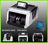 COMPTEUSE DE BILLETS Quadruple détection des faux billets UV/MG/MT/IR + Technologie 2D - Garantie 2 ans