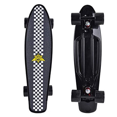 SHLYXY Mini Skateboard Board Cruiser a Quattro Ruote Street Longboard Skateboard a 4 Ruote-Ruote...