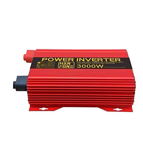 Inversor de coche/inversor de corriente/potencia 3000 W/DC 12 V a 220 V/AC luz solar / Volt coche convertidor con adaptador de mechero
