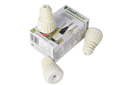 FoodSaver 3 Tappi per Bottiglia per Sigillatrice per Sottovuoto