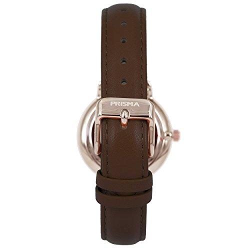 Prisma Damen Armbanduhr Retro Corum, Edelstahl rosegold mit Analog Quarzwerk, 5 ATM und Saphirglas P.1441 - 3