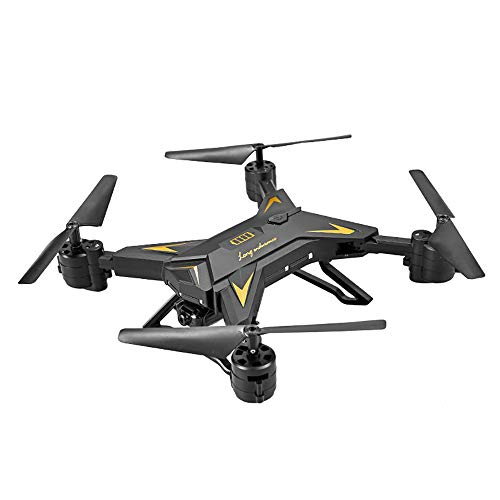 Drone con Telecamera Mini Pieghevole 1080P Video Ultra HD Fotocamera FPV Filmati dal Vivo Quadricottero Funzione Headless Seguimi Altitudine Attesa GPS Return Home Antivibrazione Flip 3D,Black