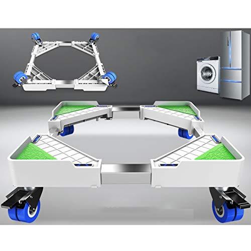 YUFEI Supporto per Lavatrice Regolabile Supporto per Base Frigorifero asciugatrice Mobile 4 Ruote...