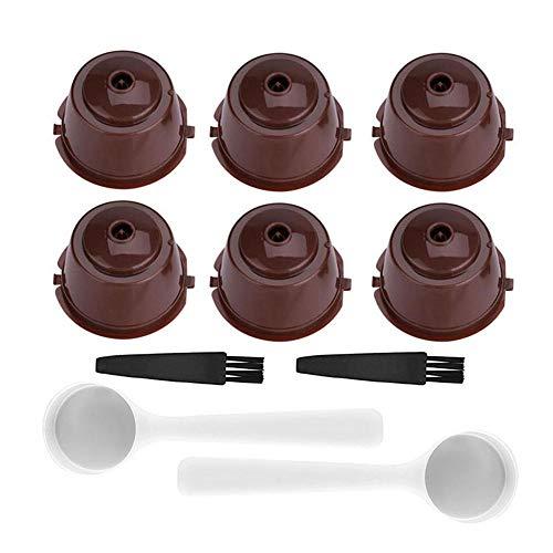 PAWACA 7 PCS Colore Ricaricabile riutilizzabili Dolce Gusto caffè in Capsule Compatibile con Nescafe Genio, Piccolo, Esperta e Circolo (Type 4)