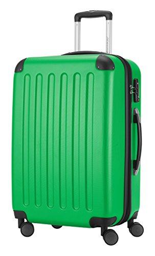 HAUPTSTADTKOFFER® Hartschalen Koffer SPREE 1203 · NEU 4 Doppel-Rollen · MATT · TSA Zahlenschloss · + KOFFERANHÄNGER (Apfelgrün, Set) - 3