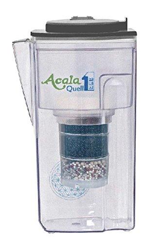 AcalaQuell One 2.8L water filter jug with cartridges bundle (black) (2 months of AcalaQuell One/Swing) (1 cartridge)