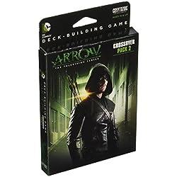Ampliación para DC Comics Deck Building Game basada en la serie de TV Arrow. Texto y reglamento en inglés