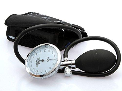Manual analogici Gess Optimum aneroide Sfigmomanometro manicotto da braccio superiore Stetoskop
