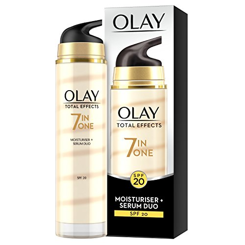 Olay - Total effects, 7 - in - 1 hidratante y serum duo, factor de protección solar 20 - 40 ml