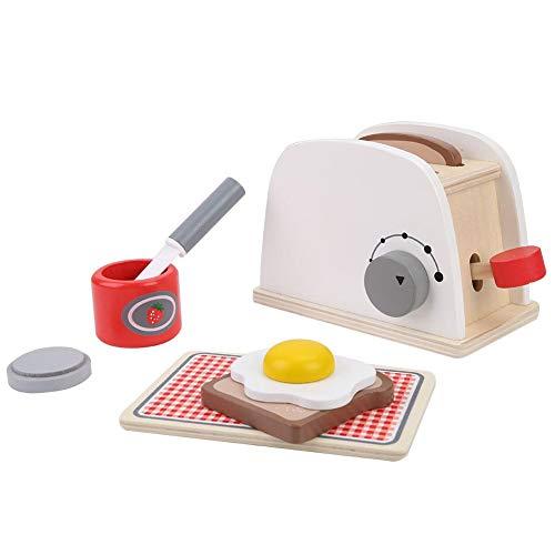 Zerodis Fingere Giocare Tostapane Impostato Bambini Legno Apparire Giocattolo Cucina Personaggio...