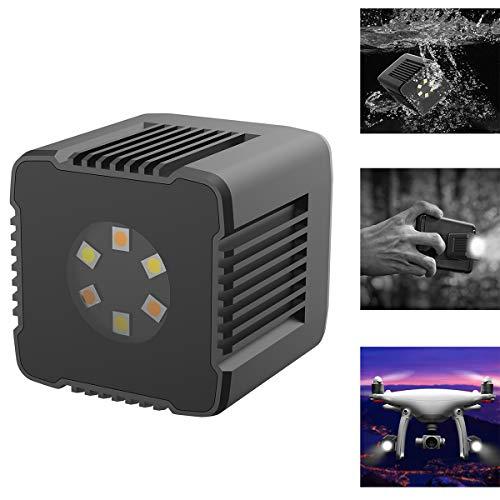 fotowelt Moin L1 Micro Versatile Bluetooth Luce a led, 3200K-5600K Luci a cubo per lume da 35 piedi...