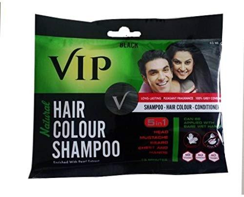VIP Hair Color Shampoo Black 5 in 1 40 ml