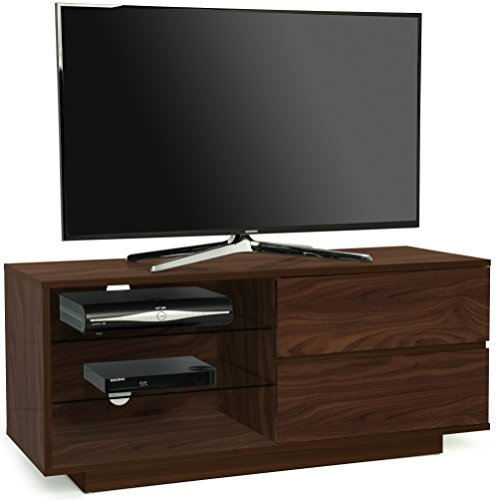 Centurion Supports Gallus Premium Noce con 2-Noce Cassetti e 3-Mensole 32'-55' Mobile TV/OLED/LCD...