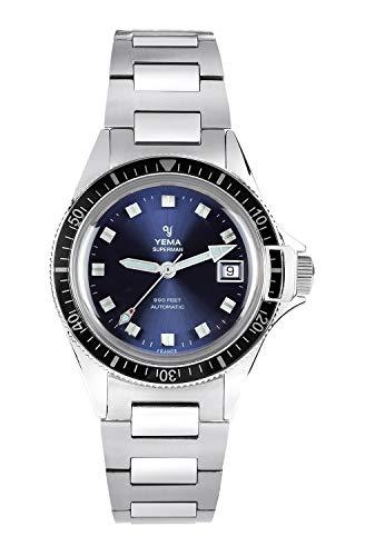 Yema, orologio da uomo Superman Heritage Blue, movimento ETA 2824-2, 500 esemplari numerati, YSUP2018B-GMS