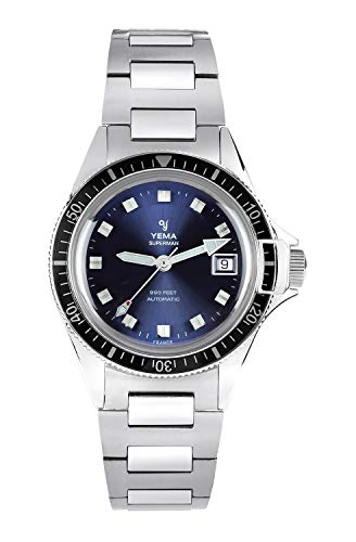 Yema, orologio da uomo Superman Heritage Blue, movimento ETA 2824-2, 500 esemplari numerati,...