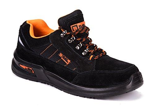 Botas para Hombre De Seguridad Puntera De Acero Zapatos De Trabajo Senderismo Plantilla De Protección Unisex-Adulto S1P CE Aprobado Black Hammer 9952 (43 EU / 9 UK, Negro)
