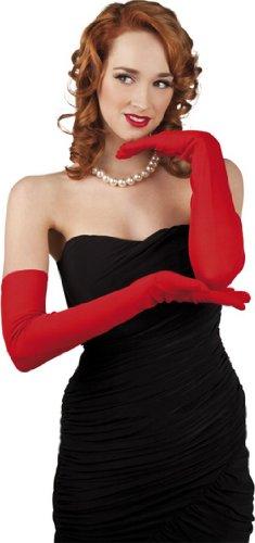 Lunghi guanti rossi